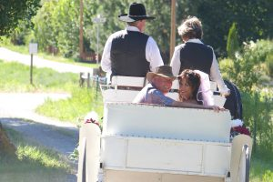 BC Farm Wedding Venue with Horse Carriage