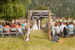 Wedding Ceremony Outdoors Summerland BC