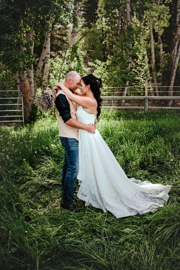 Newlyweds at Outdoor Wedding Venue near Kelowna